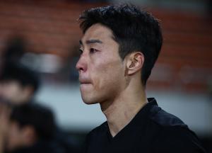'승격 좌절' 이정협, '눈가에 맺힌 눈물'