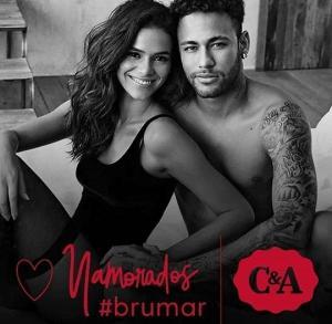 네이마르, 여자친구와 뜨거운 스킨십...화끈 란제리 광고